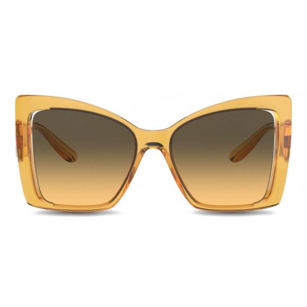 Dolce & Gabbana - DG Monogram Sunglasses - Yellow - Dolce & Gabbana Eyewear