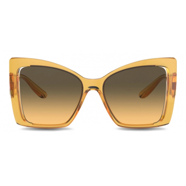 Dolce & Gabbana - Occhiale da Sole DG Monogram - Giallo - Dolce & Gabbana Eyewear