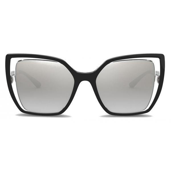Dolce & Gabbana - Occhiale da Sole Line - Nero Cristallo - Dolce & Gabbana Eyewear