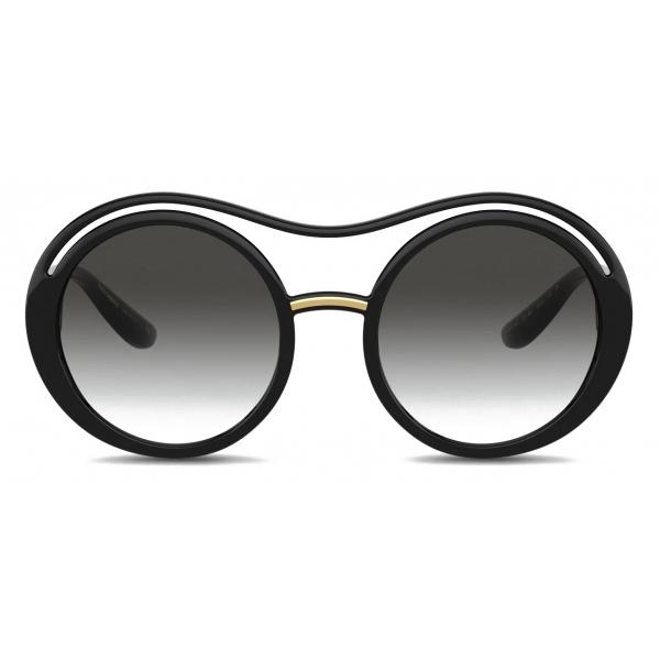 Dolce & Gabbana - DG Monogram Sunglasses - Black - Dolce & Gabbana Eyewear
