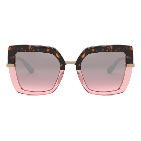 Dolce & Gabbana - Half Print Sunglasses - Havana Pink - Dolce & Gabbana Eyewear