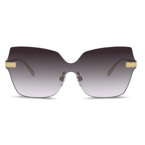 Dolce & Gabbana - Occhiale da Sole Logo Plaque - Oro - Dolce & Gabbana Eyewear