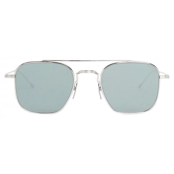 Thom Browne - Silver Squared Aviator Sunglasses - Thom Browne Eyewear