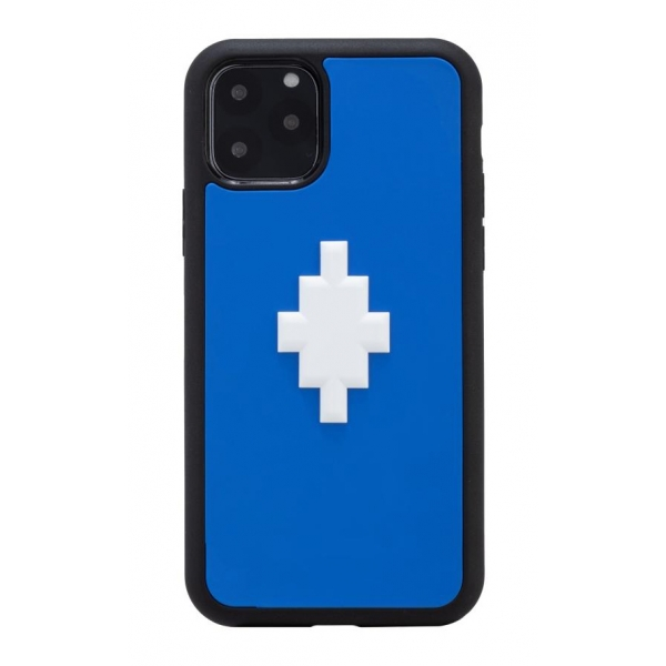 Marcelo Burlon - Cover 3D Cross Blue - iPhone 11 Pro - Apple - County of Milan - Cover Stampata