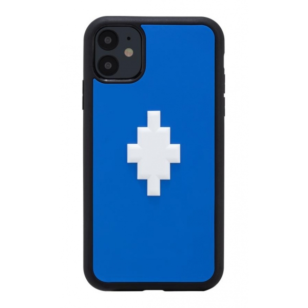 Marcelo Burlon - Cover 3D Cross Blue - iPhone 11 - Apple - County of Milan - Cover Stampata