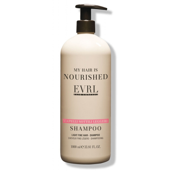 Everline - Hair Solution - Capelli Sottili Leggeri - Shampoo - Trattamenti Professionali - 1000 ml