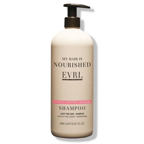 Everline - Hair Solution - Light Fine Hair - Shampoo - Professional Treatments - 1000 ml