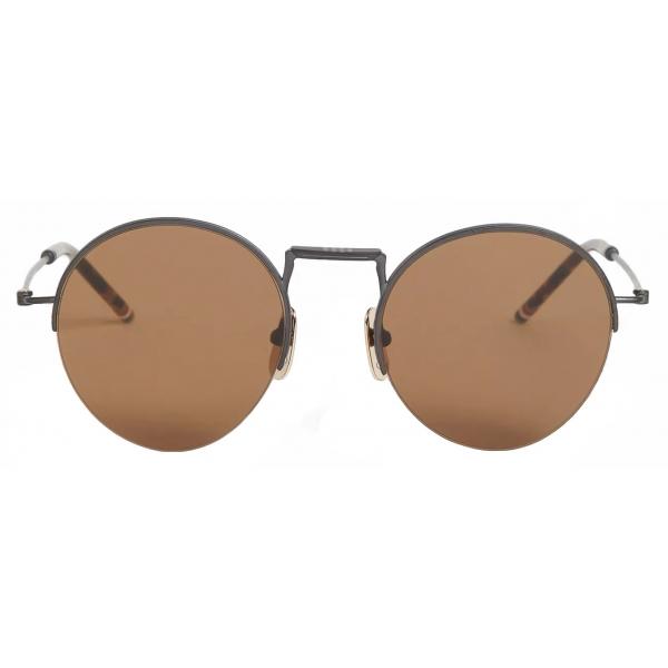 Thom Browne - Occhiali da Sole Rotondi Senza Cerniera in Ferro Nero - Thom Browne Eyewear