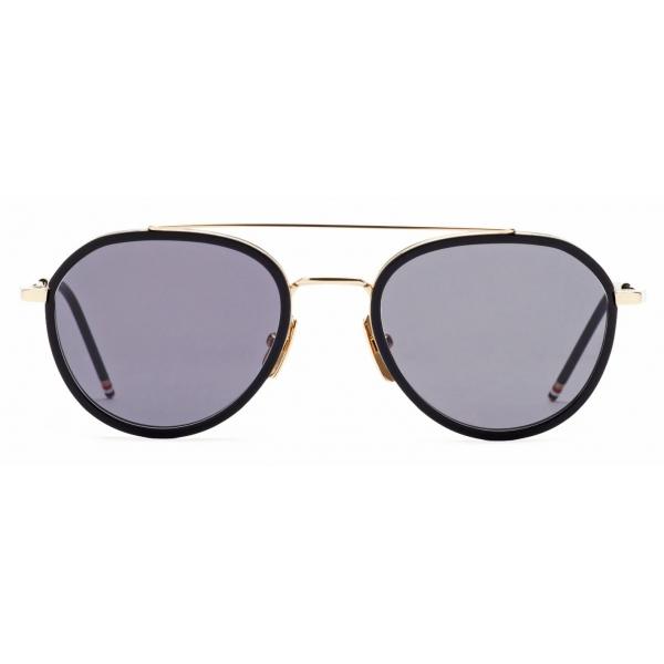 Thom Browne - Matte Black Sunglasses - Thom Browne Eyewear