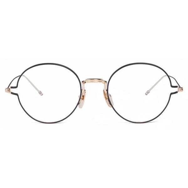 Thom Browne - Gold Round Eye Glasses - Thom Browne Eyewear