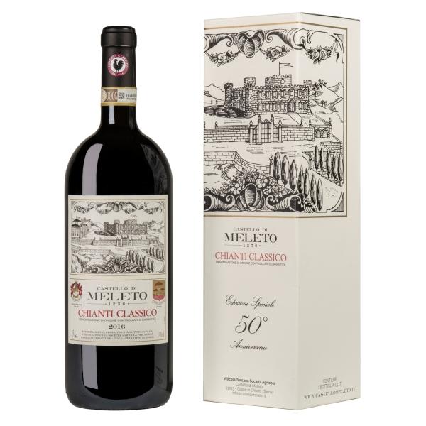 Castello di Meleto - Meleto Chianti Classico D.O.C.G. - Magnum - Edizione Speciale 50° Anniversario - Vini Rossi