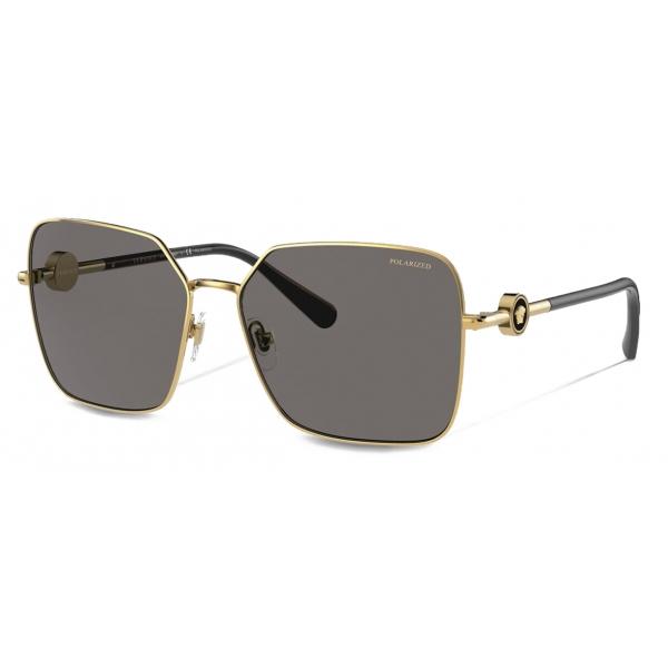 Versace - Occhiale da Sole Enamel Medusa - Nero Oro - Occhiali da Sole - Versace Eyewear