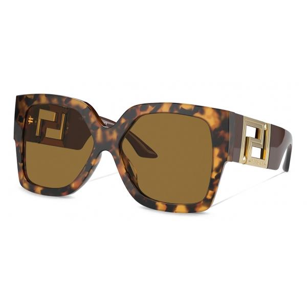 Versace - Occhiale da Sole Greca - Havana - Occhiali da Sole - Versace Eyewear