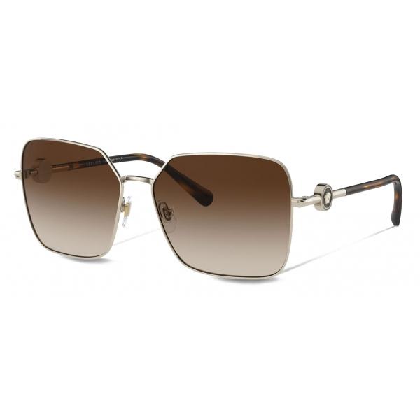 Versace - Occhiale da Sole Enamel Medusa - Marrone - Occhiali da Sole - Versace Eyewear