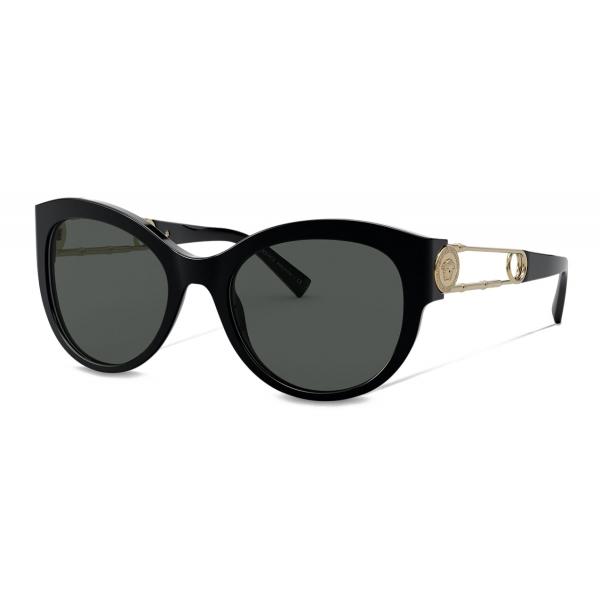 Versace - Occhiale da Sole Safety Pin - Nero - Occhiali da Sole - Versace Eyewear