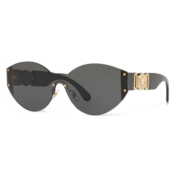 Versace - Occhiale da Sole Medusa Biggie Rimless - Nero - Occhiali da Sole - Versace Eyewear