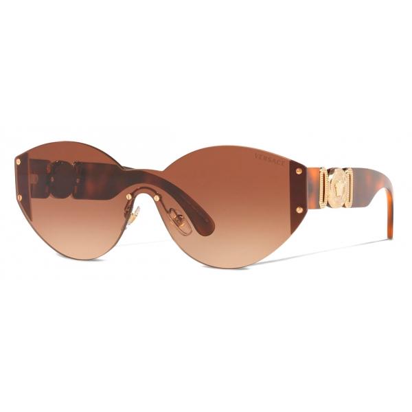 Versace - Occhiale da Sole Medusa Biggie Rimless - Havana - Occhiali da Sole - Versace Eyewear