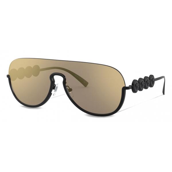 Versace - Occhiale da Sole Signature Medusa Visor - Nero - Occhiali da Sole - Versace Eyewear