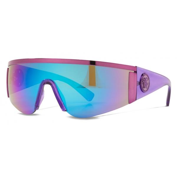 Versace - Occhiale da Sole Visor Tribute - Viola - Occhiali da Sole - Versace Eyewear