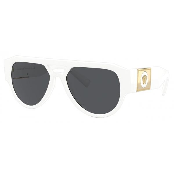 Versace - Occhiale da Sole Medusa Stud - Bianco - Occhiali da Sole - Versace Eyewear