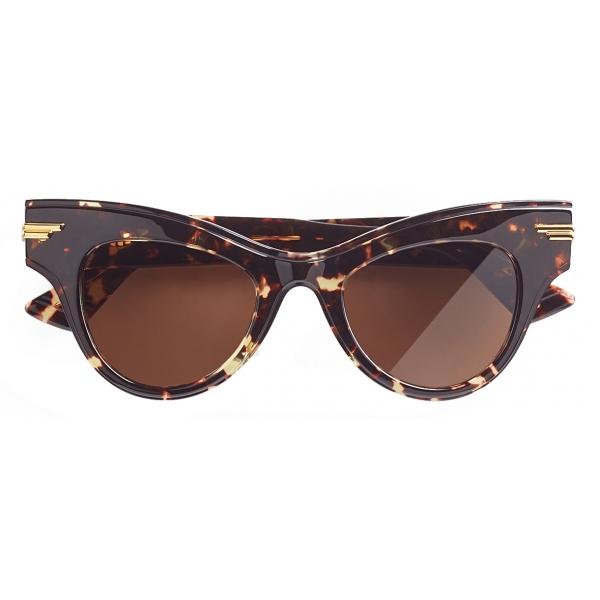 Bottega Veneta - Occhiali da Sole Cat-Eye - Havana - Occhiali da Sole - Bottega Veneta Eyewear