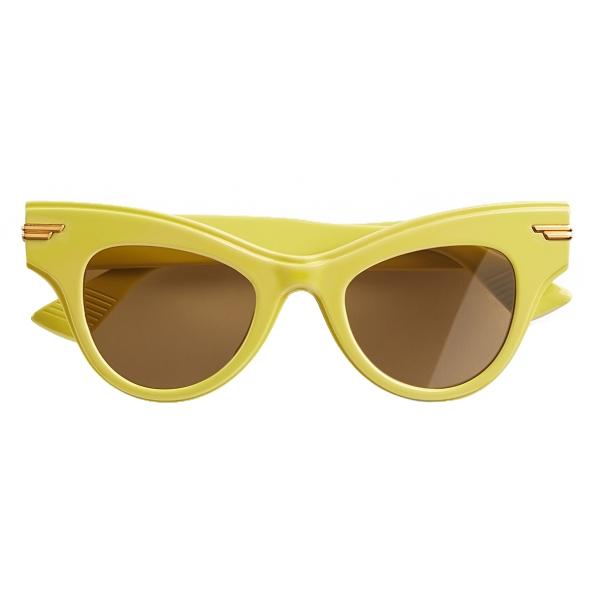 Bottega Veneta - Occhiali da Sole Cat-Eye - Giallo - Occhiali da Sole - Bottega Veneta Eyewear