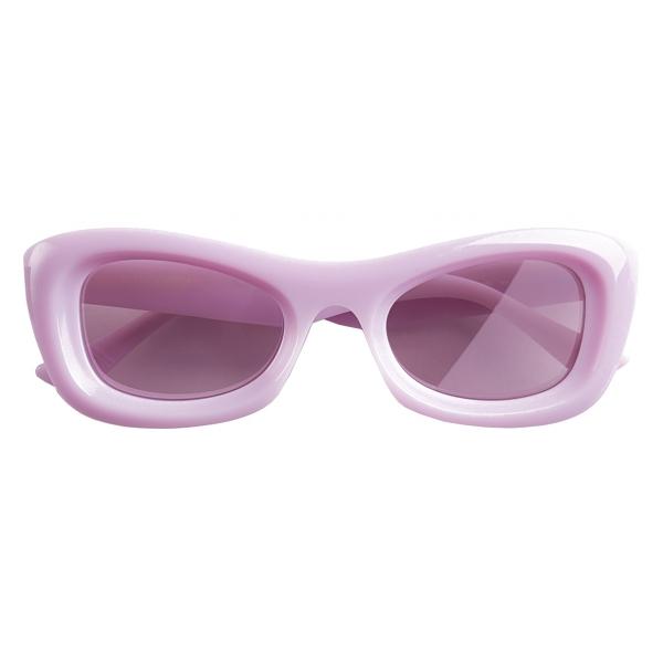Bottega Veneta - Occhiali da Sole Rettangolari - Viola - Occhiali da Sole - Bottega Veneta Eyewear
