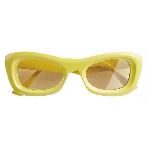 Bottega Veneta - Occhiali da Sole Rettangolari - Giallo - Occhiali da Sole - Bottega Veneta Eyewear