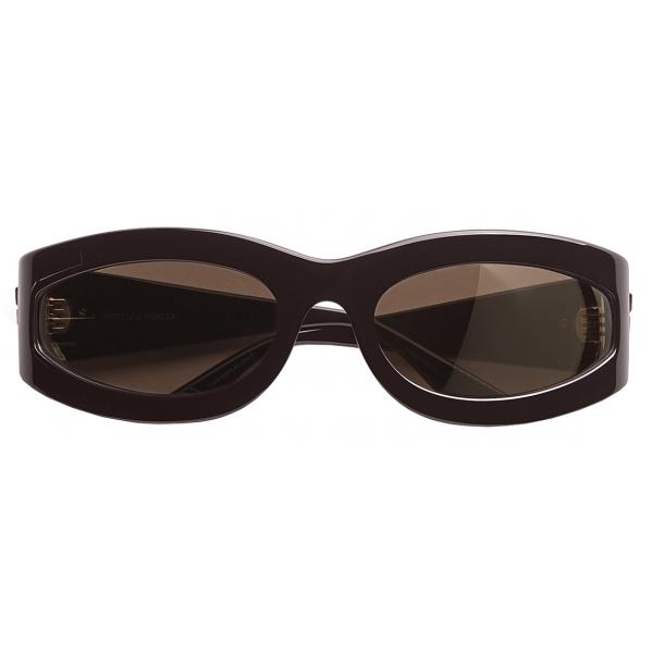 Bottega Veneta - Oval Sunglasses - Brown - Sunglasses - Bottega Veneta Eyewear