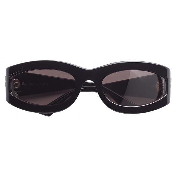 Bottega Veneta - Occhiali da Sole Ovali - Nero - Occhiali da Sole - Bottega Veneta Eyewear