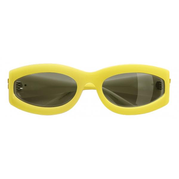 Bottega Veneta - Occhiali da Sole Ovali - Giallo - Occhiali da Sole - Bottega Veneta Eyewear