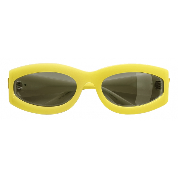Bottega Veneta - Oval Sunglasses - Yellow - Sunglasses - Bottega Veneta Eyewear