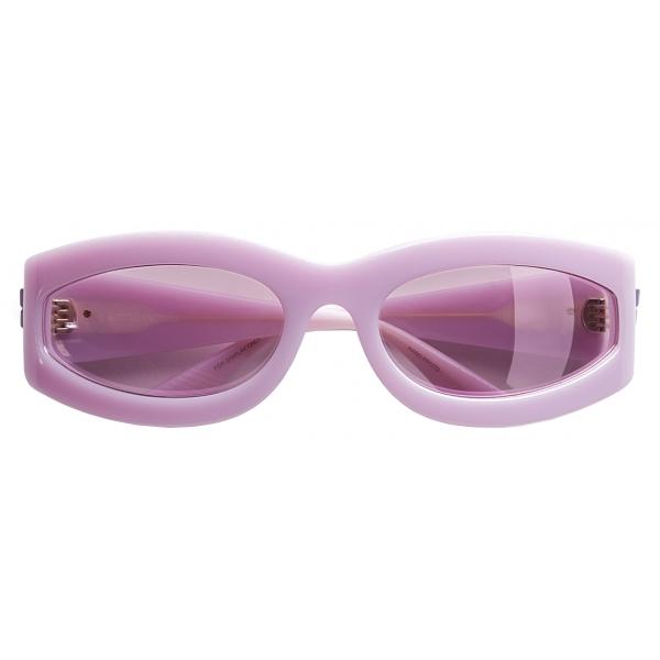Bottega Veneta - Oval Sunglasses - Violet - Sunglasses - Bottega Veneta Eyewear