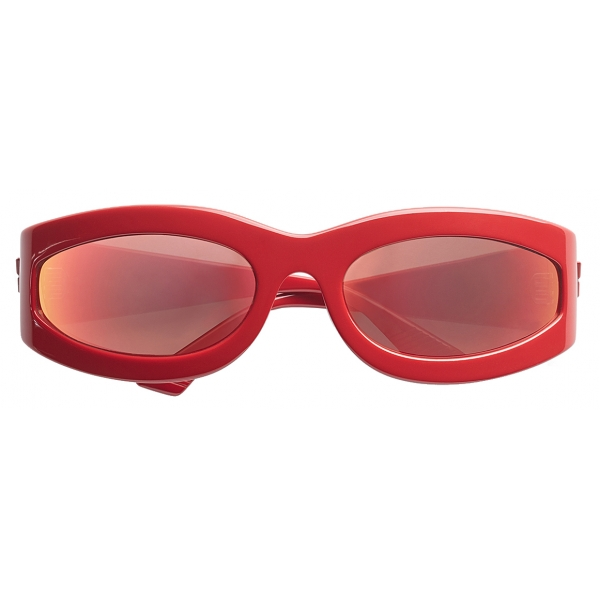 Bottega Veneta - Occhiali da Sole Ovali - Rosso - Occhiali da Sole - Bottega Veneta Eyewear