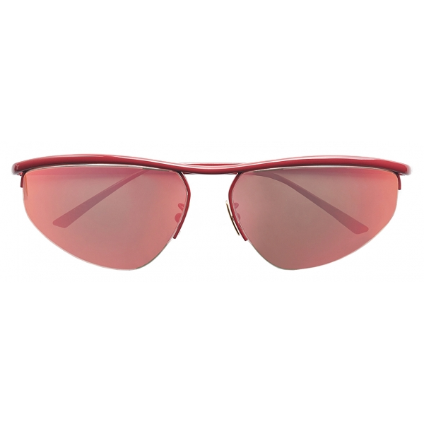 Bottega Veneta - Occhiali da Sole Panthos Ovali - Rosa - Occhiali da Sole - Bottega Veneta Eyewear