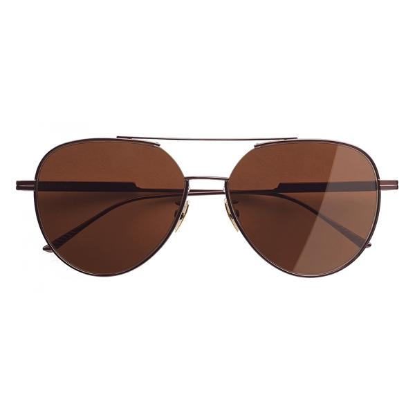 Bottega Veneta - Occhiali da Sole Aviatore - Marrone - Occhiali da Sole - Bottega Veneta Eyewear