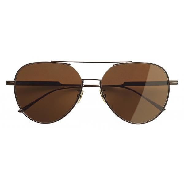 Bottega Veneta - Occhiali da Sole Aviatore - Bronzo - Occhiali da Sole - Bottega Veneta Eyewear