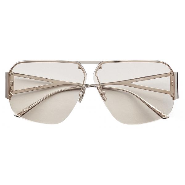 Bottega Veneta - Occhiali da Sole Aviatore - Argento - Occhiali da Sole - Bottega Veneta Eyewear