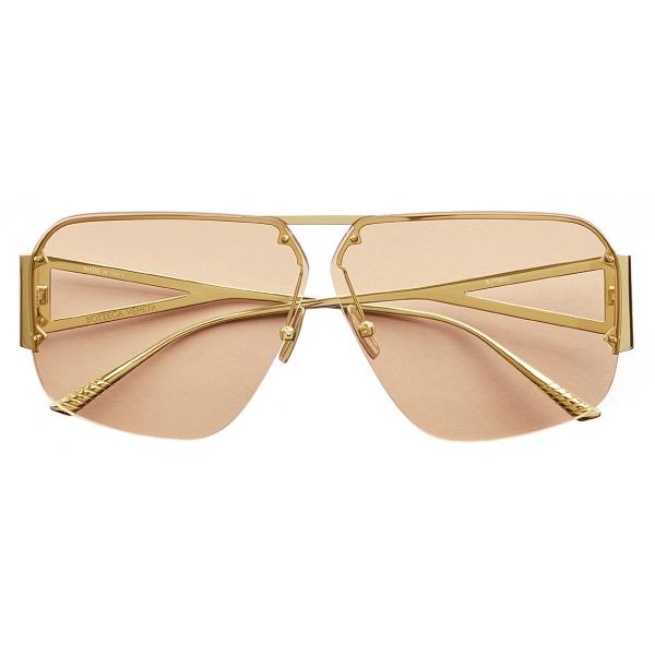 Bottega Veneta - Occhiali da Sole Aviatore - Oro - Occhiali da Sole - Bottega Veneta Eyewear