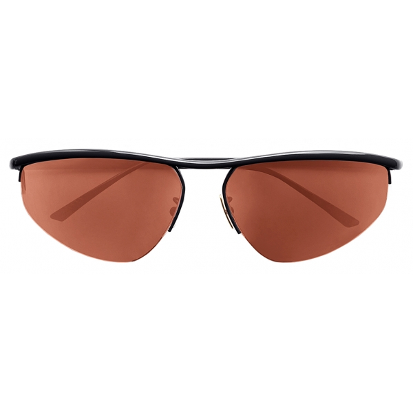 Bottega Veneta - Occhiali da Sole Panthos Ovali - Antracite - Occhiali da Sole - Bottega Veneta Eyewear