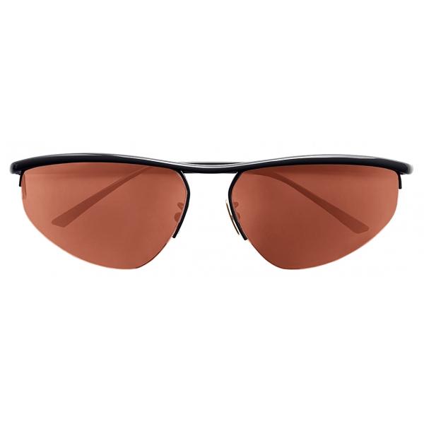 Bottega Veneta - Oval Panthos Sunglasses - Anthracite - Sunglasses - Bottega Veneta Eyewear