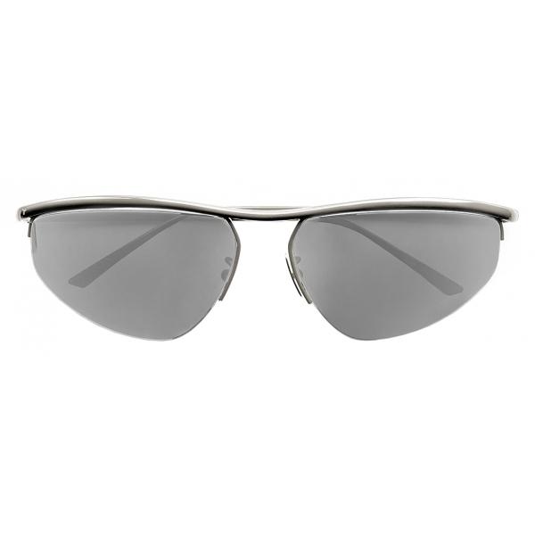 Bottega Veneta - Occhiali da Sole Panthos Ovali - Argento - Occhiali da Sole - Bottega Veneta Eyewear