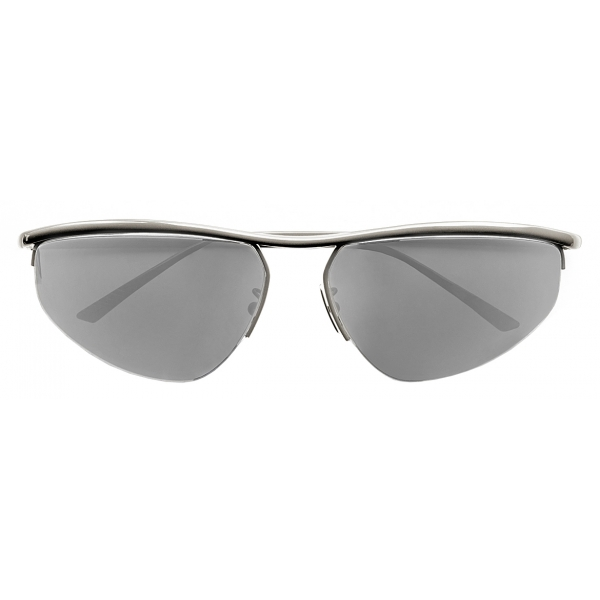 Bottega Veneta - Oval Panthos Sunglasses - Silver - Sunglasses - Bottega Veneta Eyewear