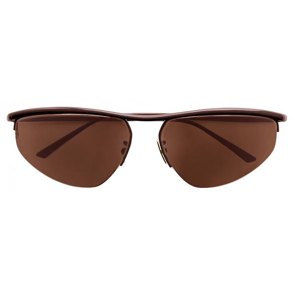 Bottega Veneta - Occhiali da Sole Panthos Ovali - Marrone - Occhiali da Sole - Bottega Veneta Eyewear