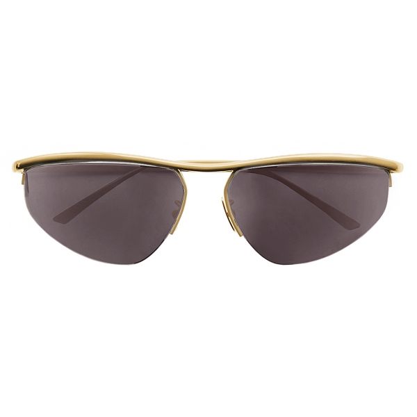 Bottega Veneta - Occhiali da Sole Panthos Ovali - Oro - Occhiali da Sole - Bottega Veneta Eyewear