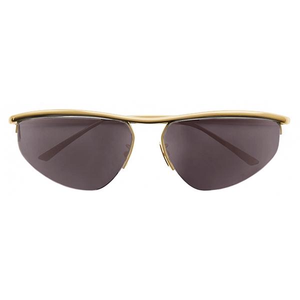 Bottega Veneta - Oval Panthos Sunglasses - Gold - Sunglasses - Bottega Veneta Eyewear