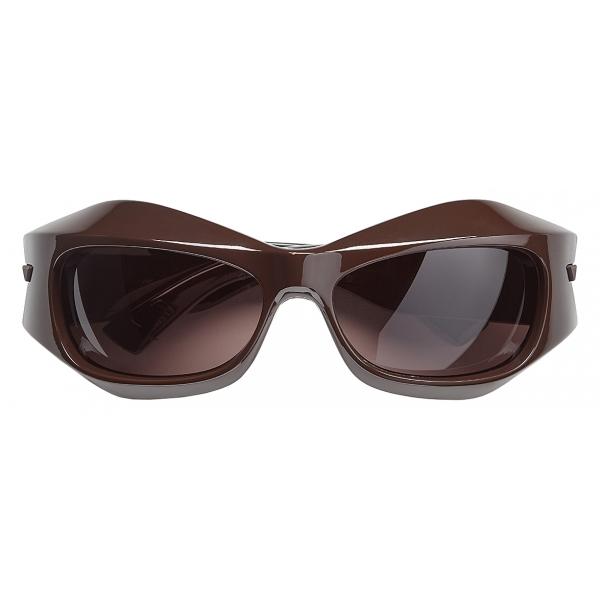 Bottega Veneta - Occhiali da Sole Ovali - Marrone Scuro - Occhiali da Sole - Bottega Veneta Eyewear