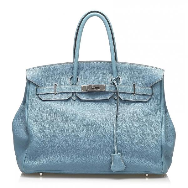 Hermès Vintage - Togo Birkin 35 Bag - Blue - Leather and Calf Handbag - Luxury High Quality