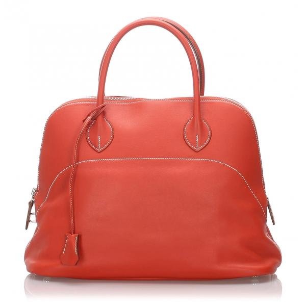 Hermès Vintage - Bolide 35 Bag - Orange - Leather and Calf Handbag - Luxury High Quality