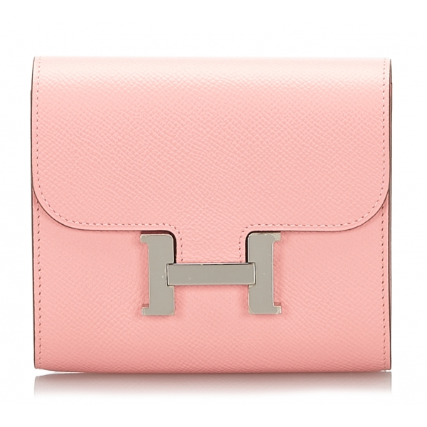 Hermès Vintage - Epsom Constance Compact Wallet - Pink - Leather Wallet - Luxury High Quality